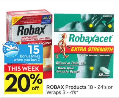 Robax Products - 15 Air Miles Bonus Miles