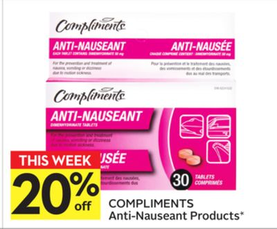 Compliments Anti-nauseant Products