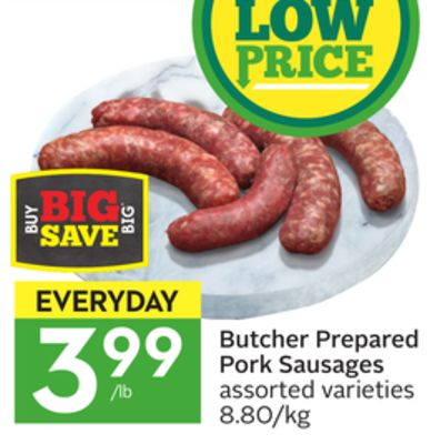Butcher Prepared Pork Sausages