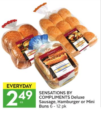 Sensations By Compliments Deluxe Sausage - Hamburger or Mini Buns