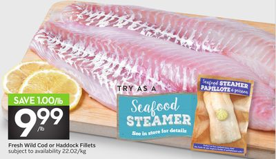 Fresh Wild Cod or Haddock Fillets - 50 Air Miles Bonus Miles