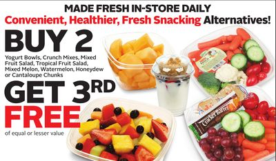 Yogurt Bowls - Crunch Mixes - Mixed Fruit Salad - Tropical Fruit Salad - Mixed Melon - Watermelon - Honeydew or Cantaloupe Chunks