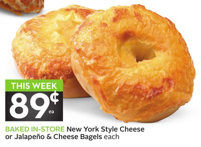 New York Style Cheese or Jalapeño & Cheese Bagels