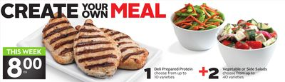 Deli Prepared Protein + Vegetable or Side Salads