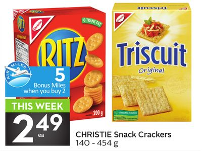 Christie Snack Crackers - 5 Air Miles