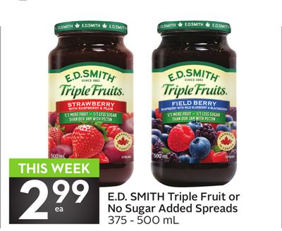 E.d. Smith Triple Fruit or No Sugar Added Spreads