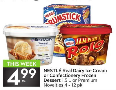 Nestlé Real Dairy Ice Cream or Confectionery Frozen Dessert