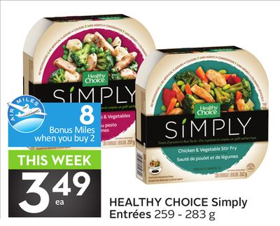 Healthy Choice Simply Entrées - 8 Air Miles