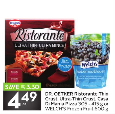Dr. Oetker Ristorante Thin Crust - Ultra-thin Crust - Casa Di Mama Pizza