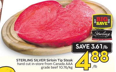 Sterling Silver Sirloin Tip Steak