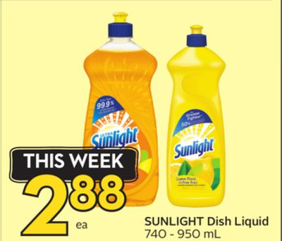 Sunlight Dish Liquid
