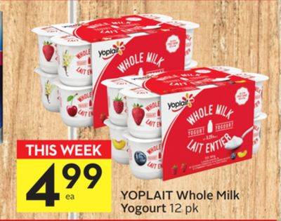 Yoplait Whole Milk Yogourt