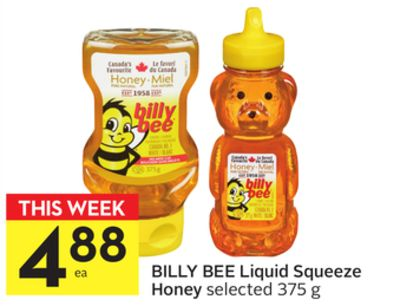 Billy Bee Liquid Squeeze Honey