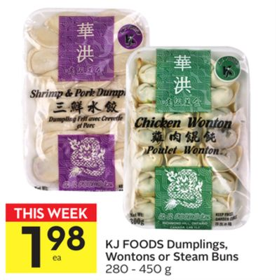 Kj Foods Dumplings - Wontons or Steam Buns