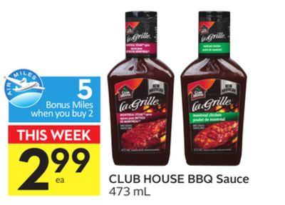 Club House Bbq Sauce - 5 Air Miles