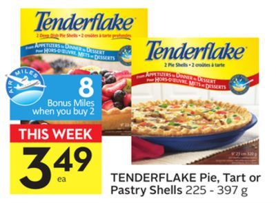 Tenderflake Pie - Tart or Pastry Shells - 8 Air Miles