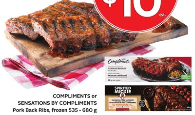 Pork Back Ribs Frozen 535 - 680g