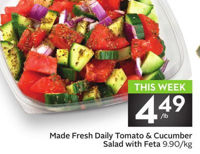 Made Fresh Daily Tomato & Cucumber Salad With Feta