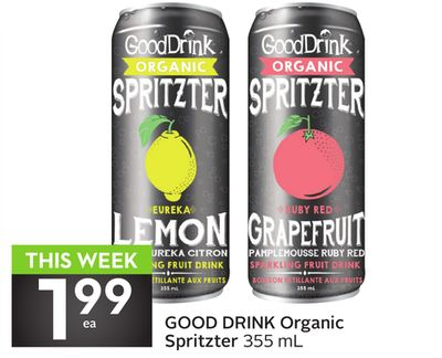 Good Drink Organic Spritzter