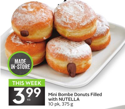 Mini Bombe Donuts Filled With Nutella