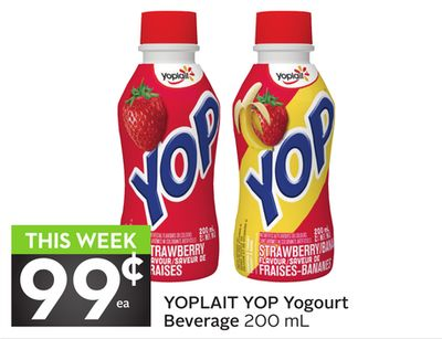 Yoplait Yop Yogourt Beverage