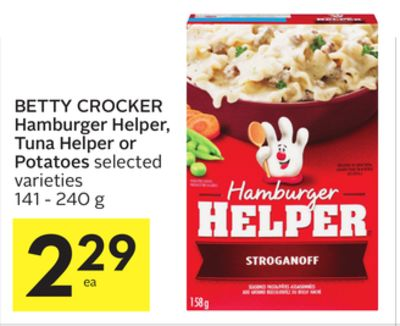 Betty Crocker Hamburger Helper - Tuna on sale | Salewhale.ca