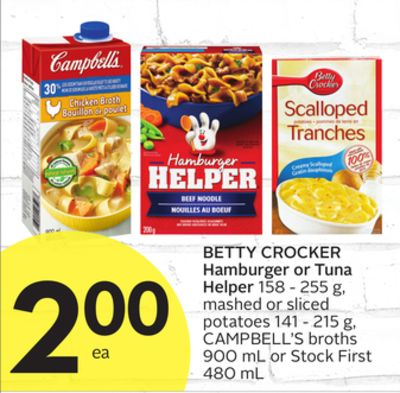Betty Crocker Hamburger or Tuna on sale | Salewhale.ca