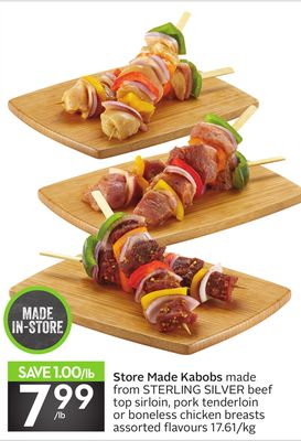 Store Made Kabobs
