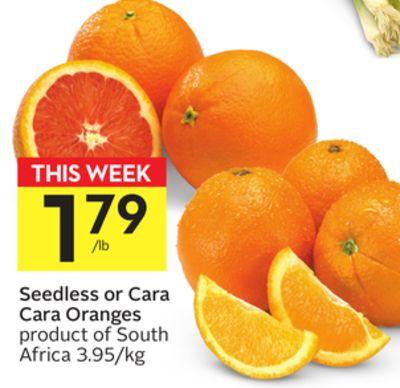 Seedless or Cara Cara Oranges