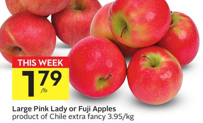 Large Pink Lady or Fuji Apples