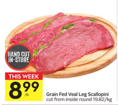 Grain Fed Veal Leg Scallopini