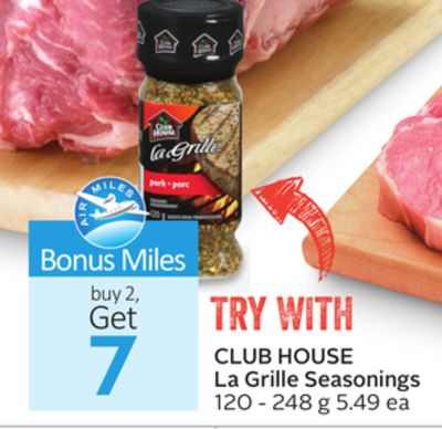 Club House La Grille Seasonings - 7 Air Miles Bonus Miles