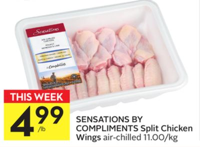 Sensations By Compliments Split Chicken Wings