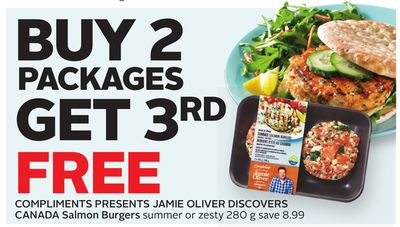 Compliments Presents Jamie Oliver Discovers Canada Salmon Burgers