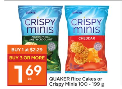 Quaker Rice Cakes or Crispy Minis