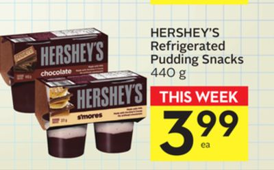 Hershey's Refrigerated Pudding Snacks