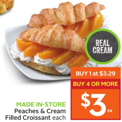 Peaches & Cream Filled Croissant