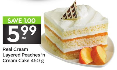 Real Cream Layered Peaches 'N Cream Cake