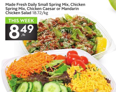 Made Fresh Daily Small Spring Mix - Chicken Spring Mix - Chicken Caesar or Mandarin Chicken Salad