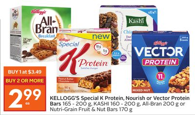 Kellogg's Special K Protein - Nourish or Vector Protein Bars