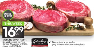 Sterling Silver Rib Eye Steaks