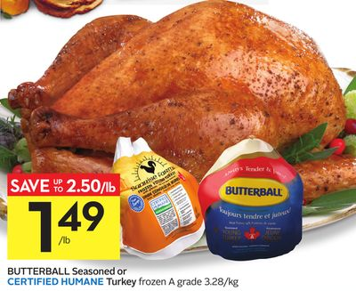 Butterball Seasoned or Certified Humane Turkey