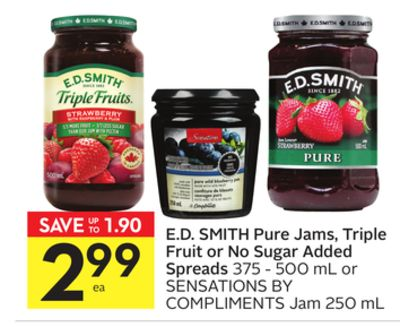 E.d. Smith Pure Jams - Triple Fruit or No Sugar Added Spreads