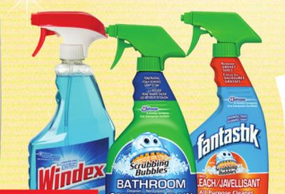 Windex Glass Cleaner - Fantastik All Purpose Cleaner or Scrubbing Bubbles Bathroom Triggers
