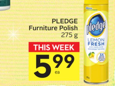 Pledge Furniture Polish