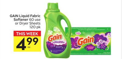 Gain Liquid Fabric Softener