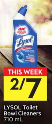 Lysol Toilet Bowl Cleaners - 5 Air Miles Bonus Miles