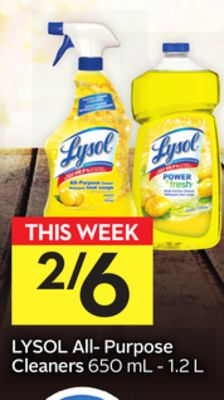 Lysol All- Purpose Cleaners - 5 Air Miles Bonus Miles