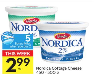 Nordica Cottage Cheese - 5 Air Miles Bonus Miles