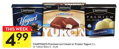 Chapman's Premium Ice Cream or Frozen Yogurt